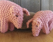 Waldorf Toy Stuffed Animal, Momma and Baby Pigs, Farm Animals, Pink child's toy