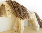 Earth Pony, Waldorf Toy, Stuffed Animal Horse, Eco Kids Toy, Natural and Eco Friendly, handknit by Woolies on Etsy