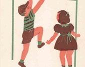 Vintage Reading Readiness Cards - 1951 - Nursery Decor or Repurpose