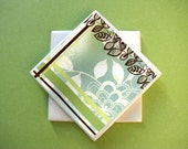 Brown Green and Blue Coasters - Set of 4 (ltg803)