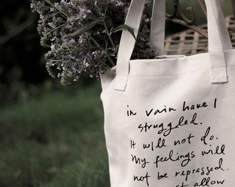 Mr. Darcy Proposal tote bag -  Jane Austen