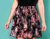 Repurposed Vintage Floral Skirt