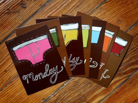 Underwear Postcard Set
