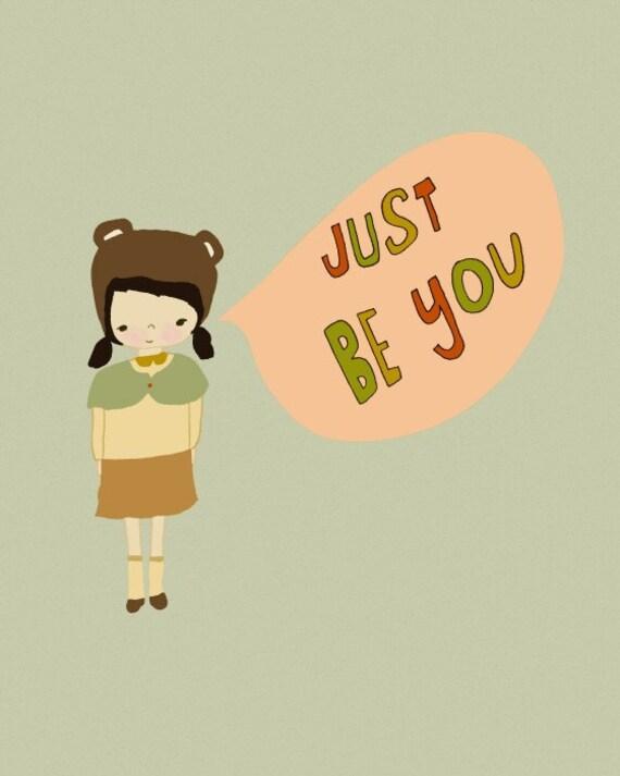 Kids Art, Tween, digital art, nursery art, tween art, childrens bedroom, kids art, 8x10 poster, girls, motivational - Being A Copy Is No Fun