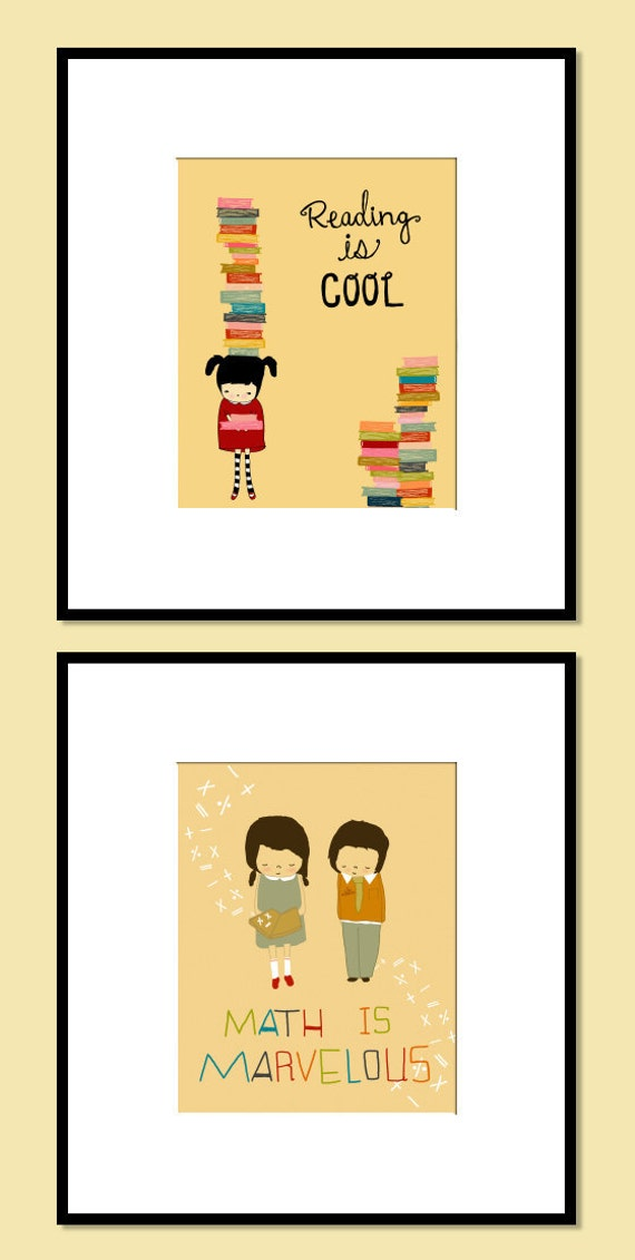 illustration print, drawing, quote art, inspirational poster, school,  kids art, nursery art print, teacher, math - LITTLE MATHEMATICIANS
