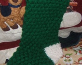 Handmade Crochet  Heirloom Thick Puff Stitch  Holiday Christmas Stockings