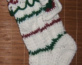 Sweet Festive Heirloom Handmade Crochet Ribbed Christmas Stockings For Hanging or Decorating!