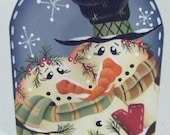 Snow Much In Love HP handpainted Mini Windchime Wind Chime