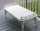 Vintage Painted Shabby Chic Cottage Coffee Table with drawer