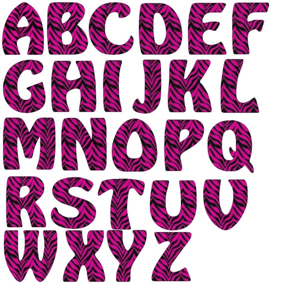 Pin Free Printable Zebra Print Letters A Z on Pinterest@Share on ...