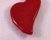 Fused Glass Heart Lapel Pin