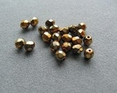 4mm Gold Carmen Czech Beads