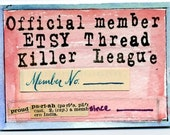 Etsy Thread Killer League Membership Card  ACEO