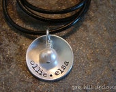 personalized stamped sterling silver handmade jewelry-medium cup of love