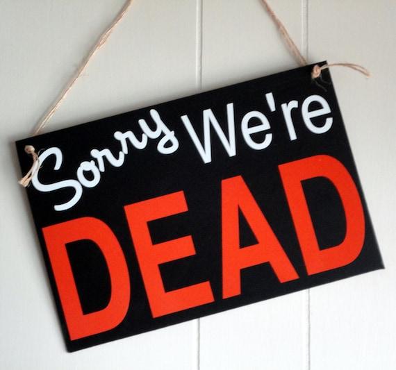 True Blood inspired hanging door sign
