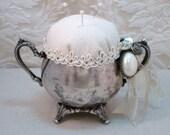 PDF Silver Sugar Dish Pincushion Tutorial no shipping cost