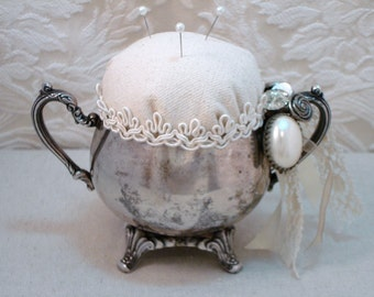PDF Silver Sugar Dish Pincushion Tutorial no shipping cost