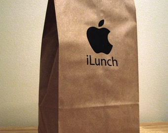 5 - iLunch Apple Computer - Parody Lunch Bags