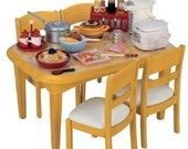 Cute Japanese Re-Ment Supplies - Dining Table and Chairs