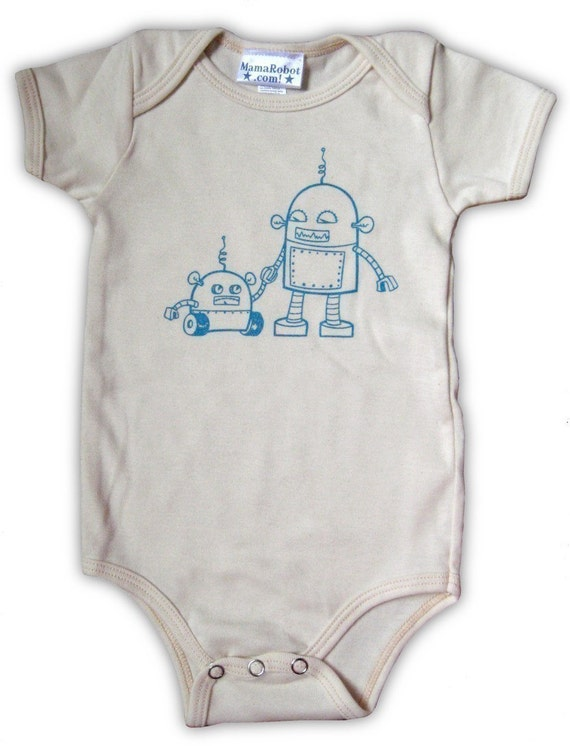 Robots Baby One-Piece Outfit in Organic Cotton, 12-18 months