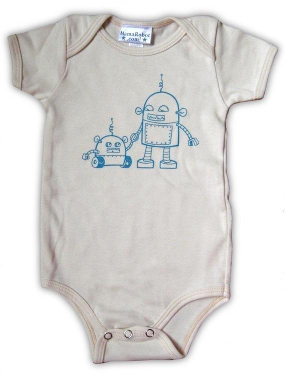Organic Robots Baby Onesie