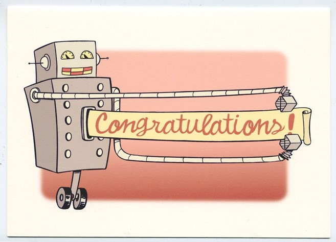 Image result for congratulations robot