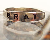 Silver Brat Ring Size 10