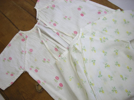 Sweet Vintage Baby Gowns Soft Cotton Floral Prints