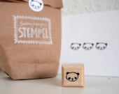 panda - rubberstamp - 20x20mm