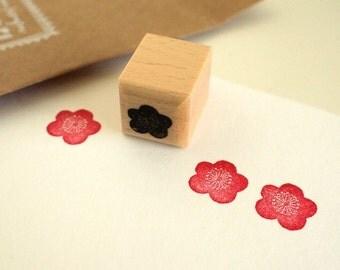 plum blossom - rubberstamp - 20x20mm - by siebenmorgen
