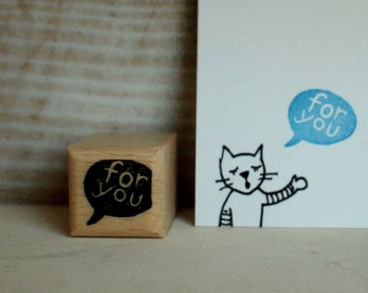 Stempel - for you - 20x20mm
