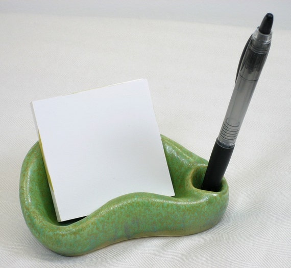 stone green desk rock/desk organizer