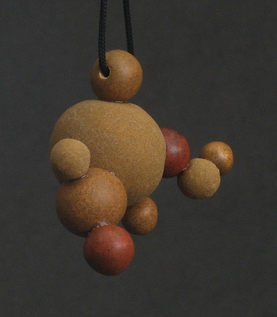 desert canyon - molecular ball ceramic pendant