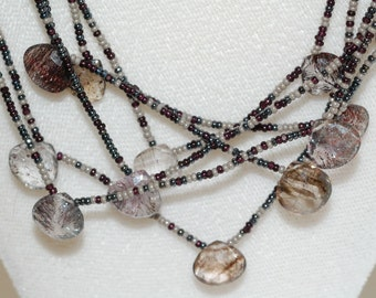 Moss Amethyst Multi-Strand Necklace