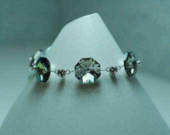 Richmond Chandelier Pink, Green, and Silver Bracelet
