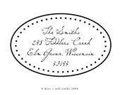 oval dots rubber address stamp