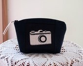 Clutch Cosmetic Bag  Purse Retro Camera