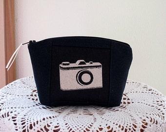 Clutch Cosmetic Bag  Purse Retro Camera