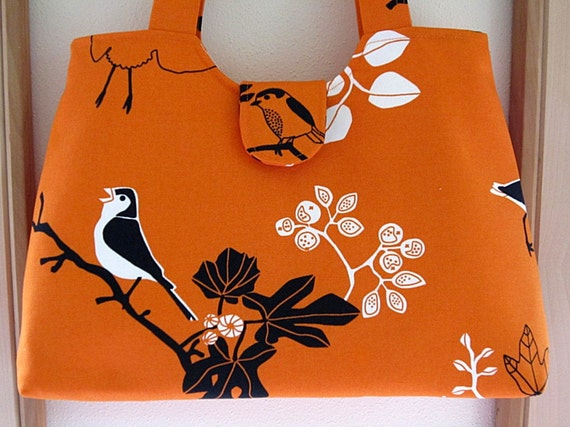 Handbag Purse Tote in Tropical Robin