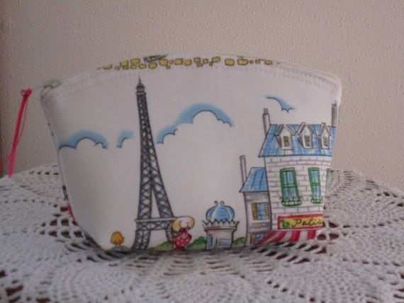 Cosmetic Bag Clutch Purse Cafe Rouge