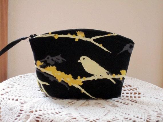 Cosmetic Bag Clutch Purse Songbirds
