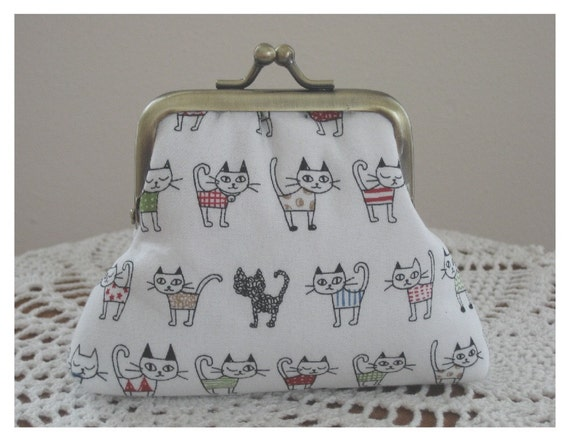 Cats On Parade ...Snap Coin Purse