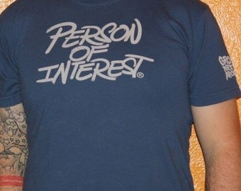 Person Of Interest Men's blue T-Shirt by Shawn Wolfe
