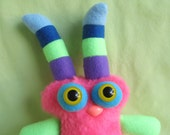 SALE 50% off Monster with striped horns