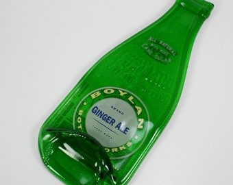 Old Fashioned Boylans Ginger Ale Soda Bottle Flat Spoon Rest - Recycled Eco-Friendly