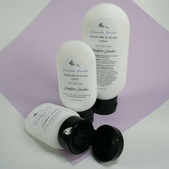 Clearance - Goat's Milk and Honey Lotion with Shea Butter - Lavender Vanilla - 4 oz.