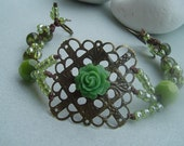 Green Square Bracelet