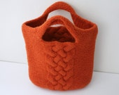 Felted Handbag in Burnt Orange