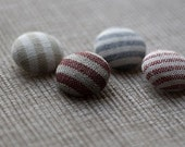 Linen Covered Buttons - Set of 4 - 22 mm