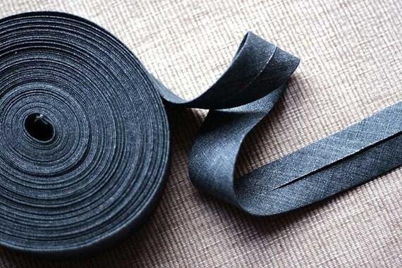 Linen bias tape - 3 meters - blue
